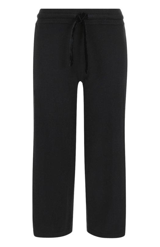 Купить Укороченные хлопковые брюки с эластичным поясом Deha, B64678, Китай, Черный, Хлопок: 85%; Кашемир: 15%;