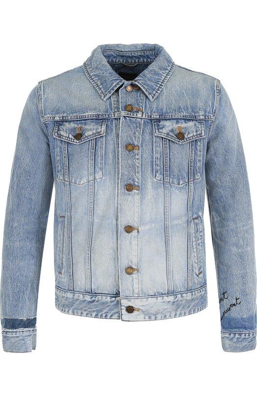 Джинсовая куртка на пуговицах Saint Laurent
