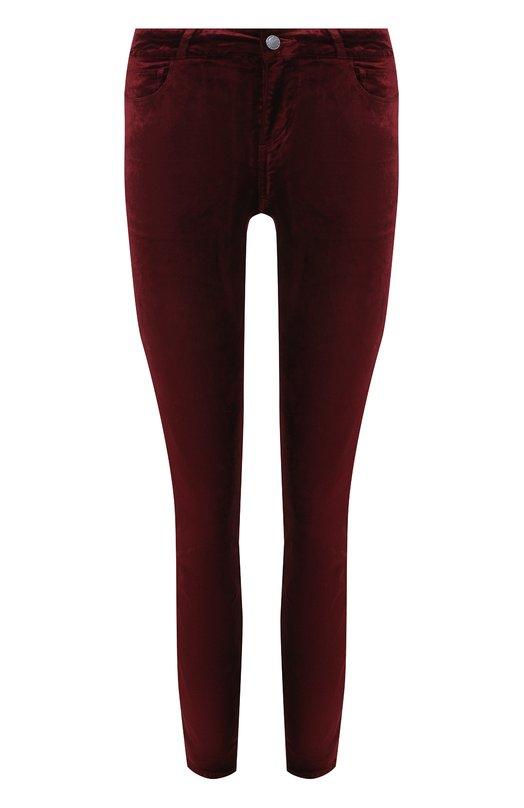 Купить Укороченные бархатные брюки-скинни Paige, 1764A66-4675, Китай, Бордовый, Хлопок: 54%; Вискоза: 44%; Эластан: 2%;