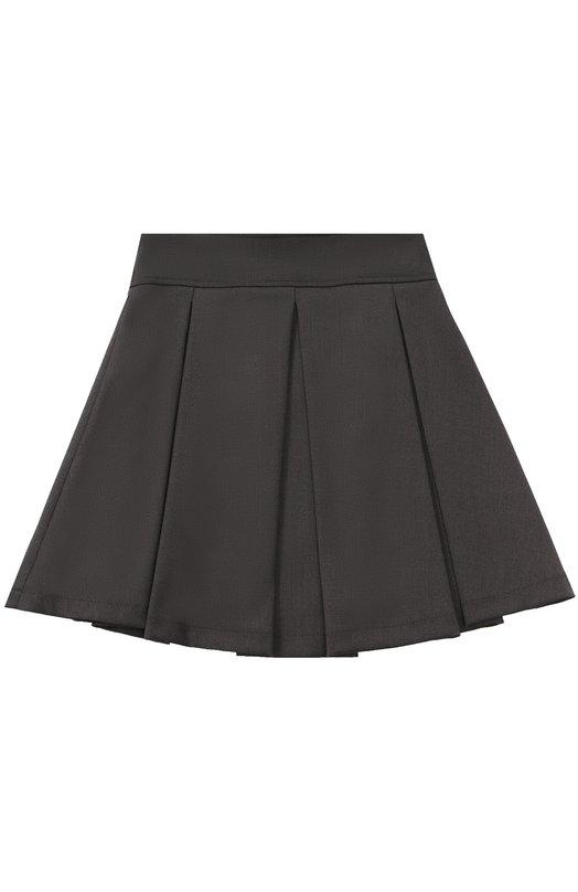 Купить Мини-юбка с широким поясом и защипами Aletta, AF555086NL/4A-8A, Италия, Темно-серый, Подкладка-ацетат: 60%; Полиэстер: 52%; Вискоза: 44%; Подкладка-вискоза: 40%; Эластан: 4%;