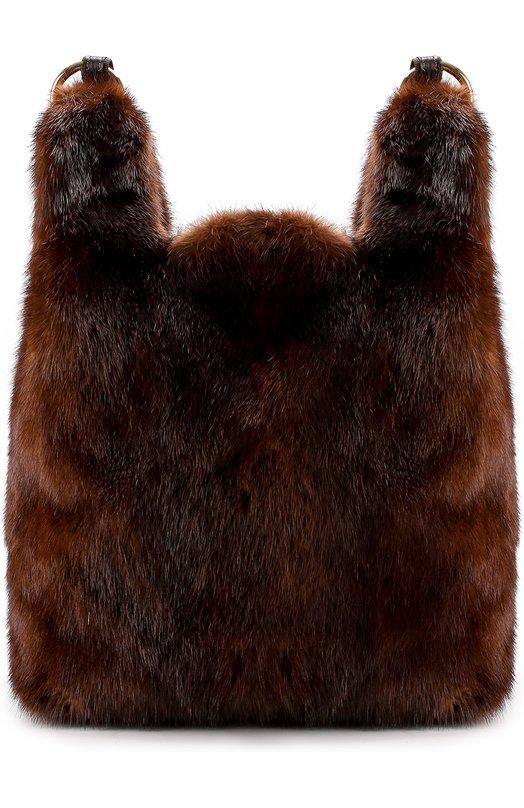 Купить Рюкзак Furissima из меха норки Simonetta Ravizza, FURP1/504-3, Италия, Коричневый, Мех/норка/: 100%;