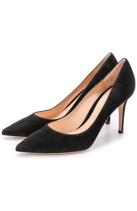Купить Замшевые туфли Gianvito 85 на шпильке Gianvito Rossi, G24580.85RIC.CAM, Италия, Черный, Стелька-кожа: 100%; Подошва-кожа: 100%; Замша натуральная: 100%;