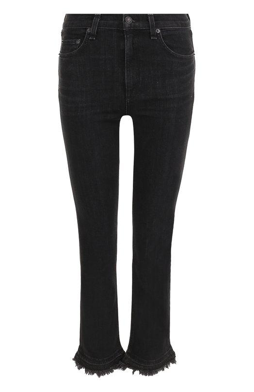 Купить Укороченные джинсы с потертостями Rag&Bone, W2015K502BKC, США, Черный, Хлопок: 98%; Полиуретан: 2%;