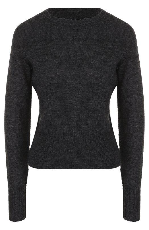 Купить Приталенный пуловер с круглым вырезом Isabel Marant Etoile, PU0581-17A057E/DWIGHT, Китай, Серый, Акрил: 36%; Полиамид: 28%; Мохер: 18%; Шерсть альпака: 18%;