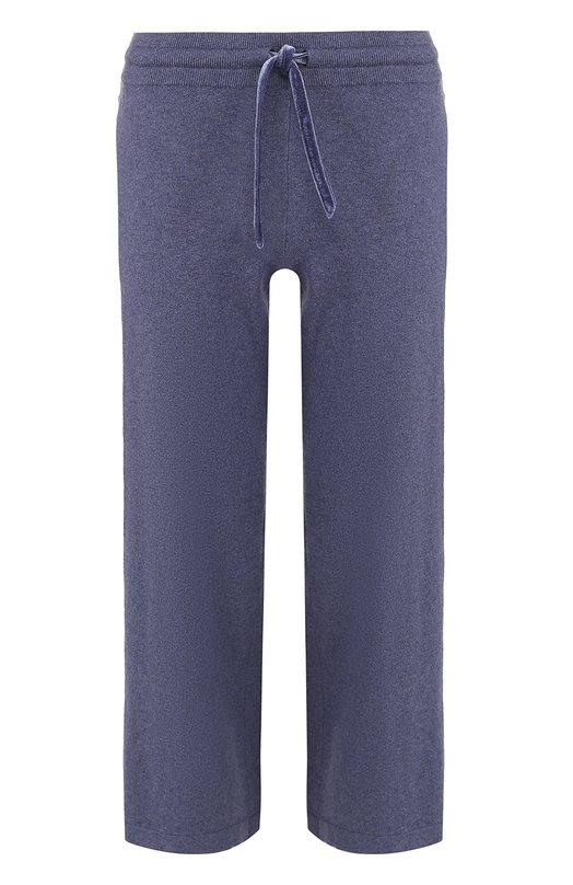 Купить Укороченные хлопковые брюки с эластичным поясом Deha, B64678, Китай, Синий, Хлопок: 85%; Кашемир: 15%;