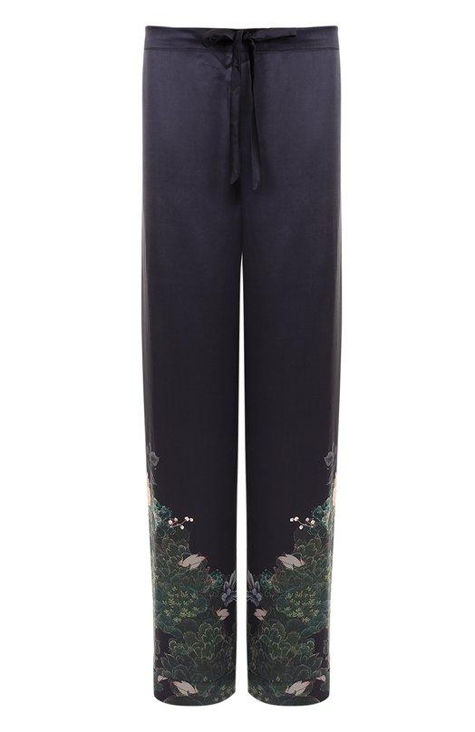 Купить Шелковые брюки с принтом Meng Великобритания 5196226 6B-BL-MGT