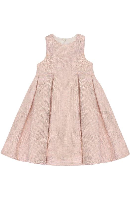 Купить Платье с металлизированной отделкой и защипами Tartine Et Chocolat, TK31001/2A-3A, Тунис, Розовый, Хлопок: 58%; Полиэстер: 39%; Металлизированное волокно: 3%; Подкладка-полиэстер: 100%;