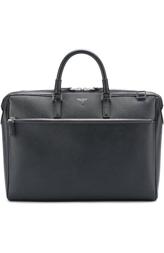 Купить Кожаная сумка для ноутбука Serapian, SEV0EMLL6198M38A, Италия, Темно-синий, Кожа натуральная: 100%;