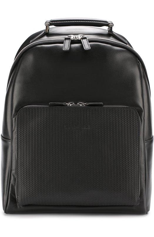 Кожаный рюкзак с внешним карманом на молнии Canali