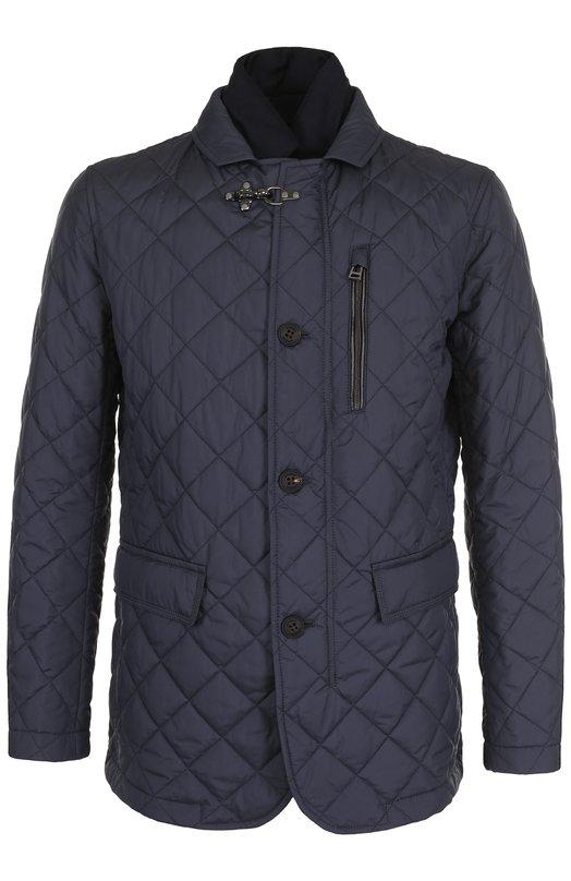 Купить Стеганая куртка на молнии с отложным воротником Windsor, 13 VERAN0-N 10001139, Вьетнам, Темно-синий, Полиэстер: 100%; Подкладка-полиэстер: 100%;
