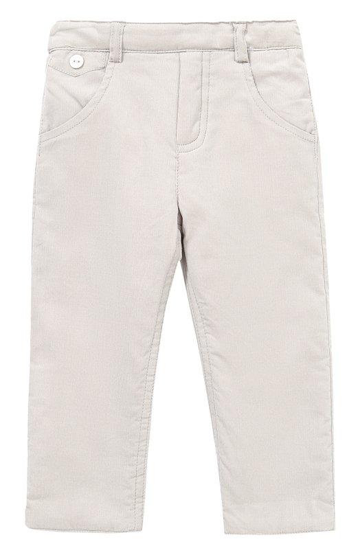 Купить Хлопковые брюки прямого кроя с эластичной вставкой на поясе Tartine Et Chocolat, TK22071/1M-18M, Китай, Серый, Хлопок: 100%;