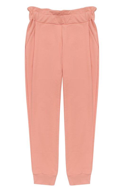 Купить Спортивные брюки с эластичными манжетами и широким поясом Fendi, JFF057/8RA/10A-12A, Португалия, Розовый, Хлопок: 95%; Эластан: 5%;