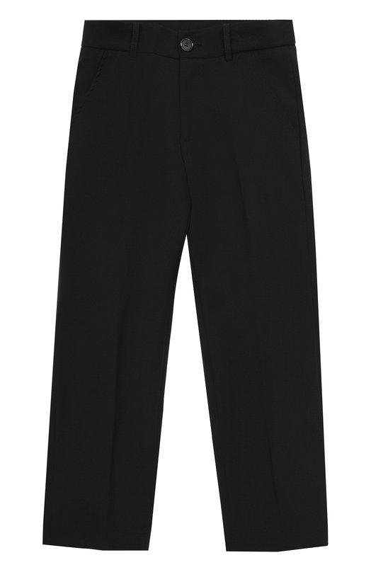 Купить Шерстяные брюки прямого кроя Aletta, AM666291E/4A-8A, Италия, Черный, Подкладка-ацетат: 60%; Подкладка-вискоза: 40%; Шерсть: 100%;
