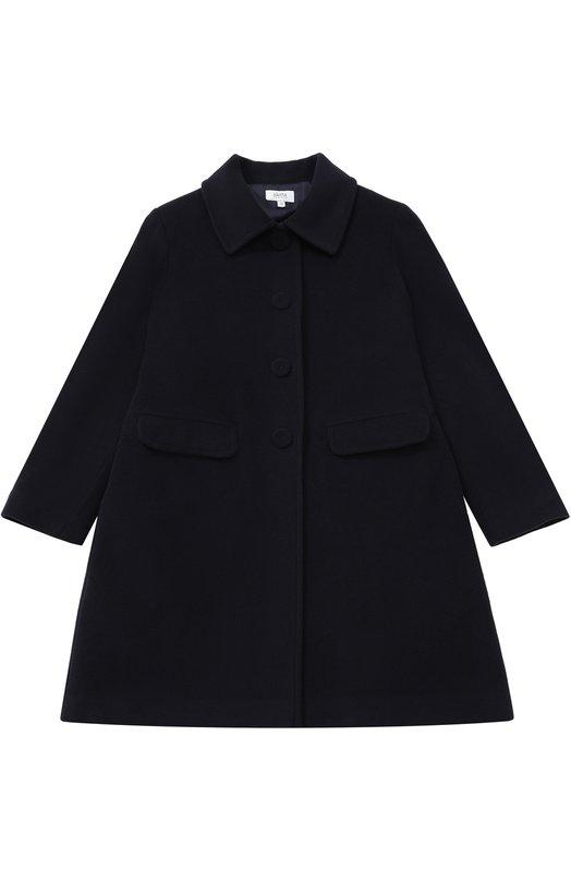 Купить Однобортное пальто прямого кроя Aletta, AF666355/9A-16A, Италия, Темно-синий, Шерсть: 70%; Подкладка-ацетат: 60%; Подкладка-вискоза: 40%; Полиамид: 20%; Кашемир: 10%;