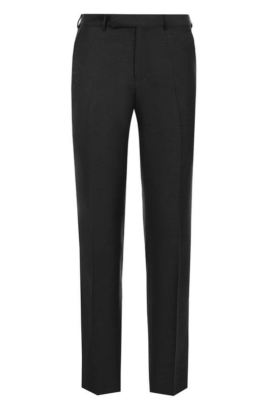 Купить Шерстяные брюки прямого кроя Ermenegildo Zegna, 222F02/75SB12, Португалия, Темно-серый, Шерсть: 100%; Подкладка-вискоза: 100%;