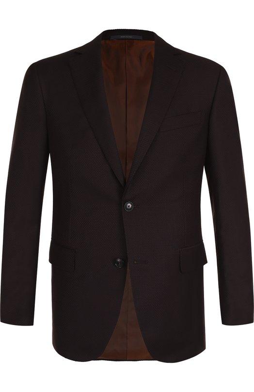 Купить Шерстяной однобортный пиджак Pal Zileri, L32CZ22/2/21800, Италия, Бордовый, Шерсть: 100%; Подкладка-купра: 100%;