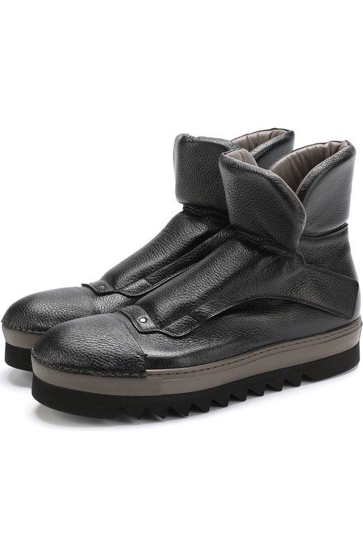 Купить Высокие кожаные ботинки на толстой подошве Rocco P., 3561T/08, Италия, Черный, Кожа натуральная: 100%; Стелька-кожа: 100%; Подошва-резина: 100%;