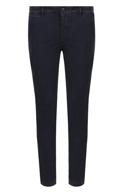 Купить Хлопковые брюки прямого кроя Moncler, C2-091-11006-40-54515, Румыния, Темно-синий, Хлопок: 97%; Эластан: 3%;