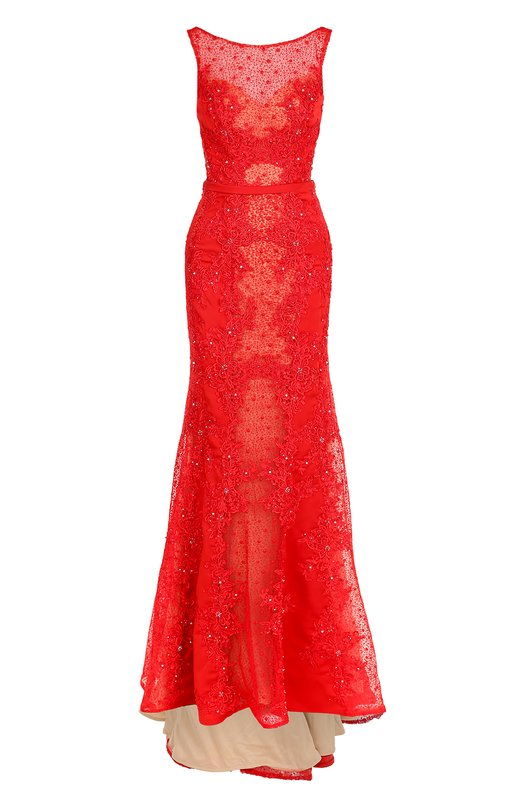 Купить Приталенное платье-макси с подолом Basix Black Label Китай 5202330 D8108L