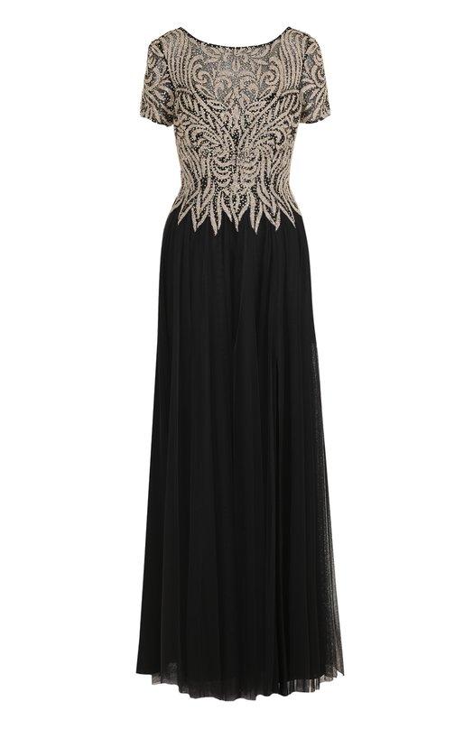 Купить Приталенное платье-макси с декорированным лифом Basix Black Label Китай 5202333 D7283L