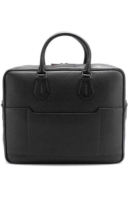Купить Кожаная сумка для ноутбука с плечевым ремнем Bally, C0NDRIA/CALF, Италия, Черный, Кожа натуральная: 100%;