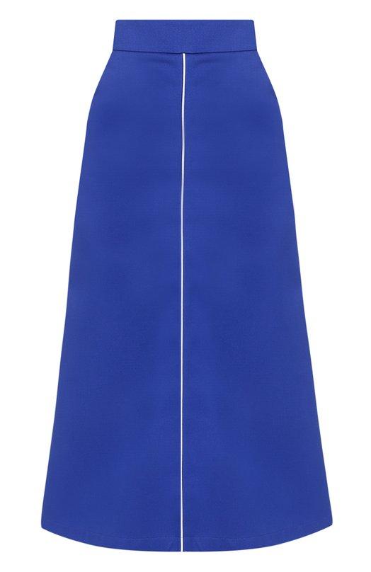 Купить Хлопковая расклешенная юбка-миди Walk of Shame, SK004-FW 17-18, Россия, Синий, Хлопок: 100%;