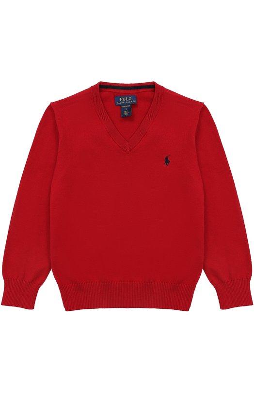 Купить Пуловер с V-образным вырезом и логотипом бренда Polo Ralph Lauren Китай 5193490 321668295