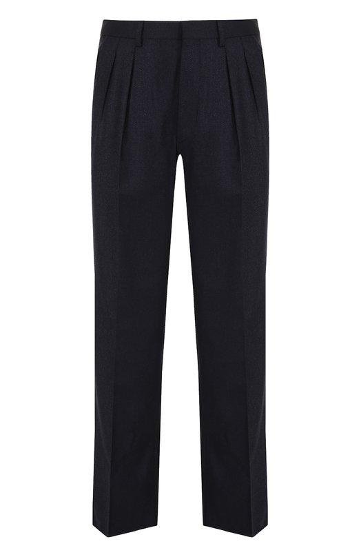Купить Шерстяные брюки прямого кроя Tom Ford, 263R13/61004J, Италия, Темно-синий, Шерсть: 100%; Подкладка-купра: 100%;