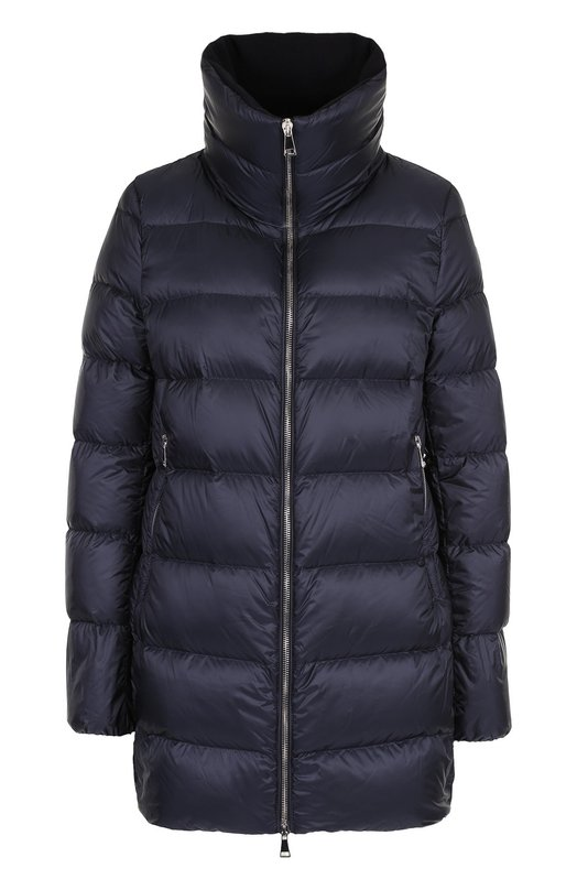 Купить Пуховая куртка на молнии Moncler, C2-093-46833-45-53048, Румыния, Темно-синий, Пух: 90%; Полиамид: 100%; Подкладка-полиамид: 100%; Перо: 10%;