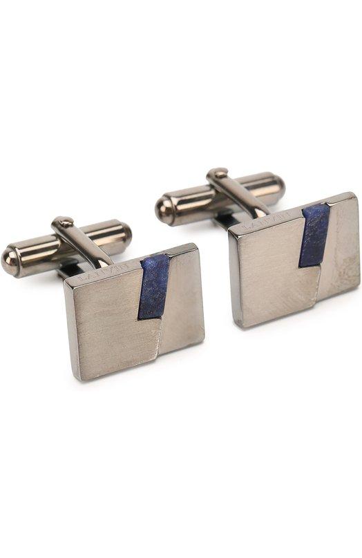 Купить Запонки Lanvin, 09815/5, Германия, Синий, Недрагоценный металл: 100%; отделка- Содалит;