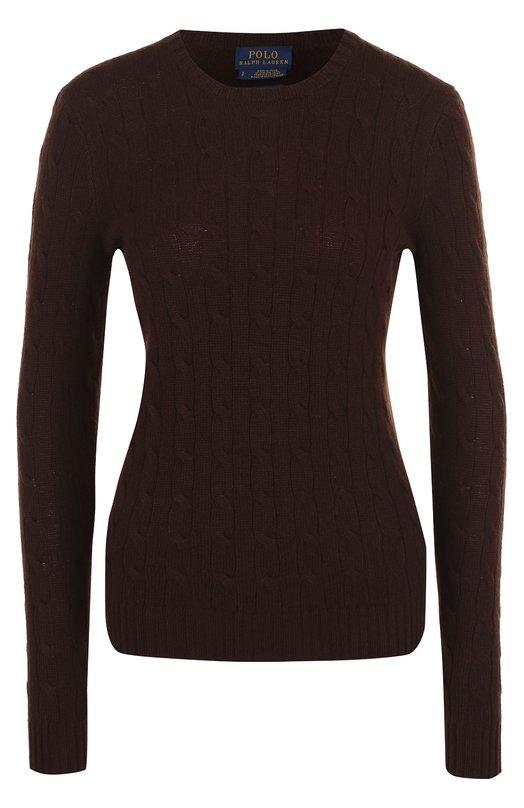 Купить Кашемировый пуловер фактурной вязки Polo Ralph Lauren, 211525818, Китай, Темно-коричневый, Кашемир: 100%;