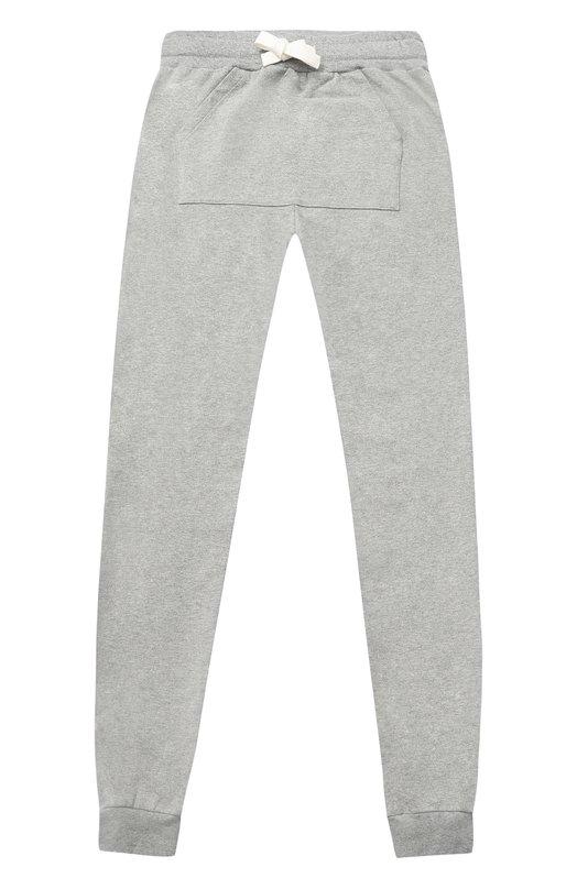 Спортивные брюки из хлопка с принтом и карманом No. 21
