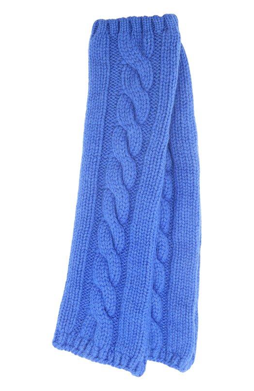 Купить Вязаные митенки из кашемира Kashja` Cashmere, 384, Италия, Синий, Кашемир: 100%;