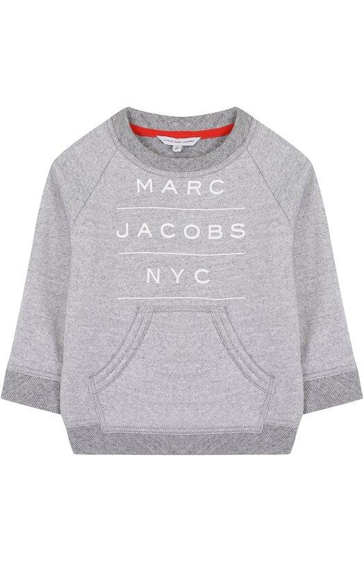 Купить Хлопковый свитшот с логотипом бренда Marc Jacobs Китай 5202467 W25296/2A-5A
