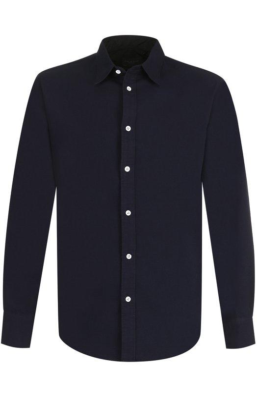 Купить Хлопковая рубашка с воротником кент Rag&Bone, M275A285P, Китай, Темно-синий, Хлопок: 100%;