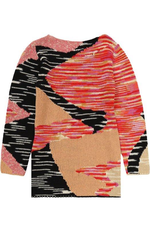Купить Вязаное мини-платье прямого кроя с принтом Missoni, I17.BA.215112, Италия, Розовый, Шерсть: 77%; Кашемир: 5%; Полиамид: 18%;