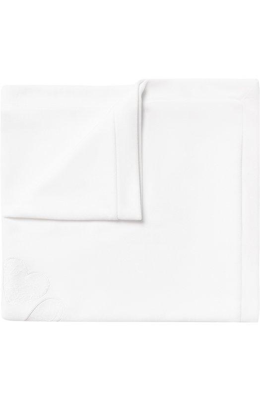 Купить Одеяло из хлопка с кружевной отделкой Aletta, RL777023CIN, Италия, Кремовый, Хлопок: 80%; Полиамид: 20%;