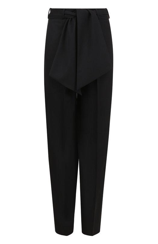 Шерстяные брюки с завышенной талией и поясом Lanvin