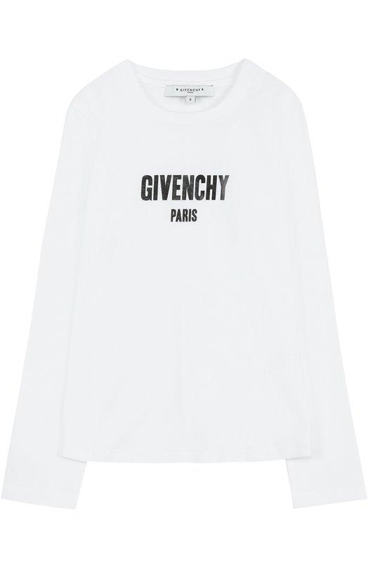 Хлопковый лонгслив с принтом Givenchy