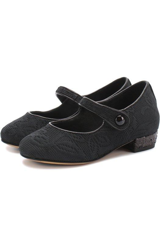 Парчовые туфли с ремешком Dolce & Gabbana