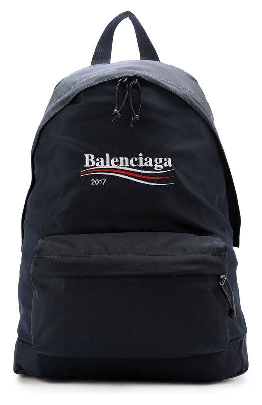 Текстильный рюкзак Explorer с логотипом бренда Balenciaga, 459744/9D0E5, Италия, Синий, Текстиль: 100%;  - купить