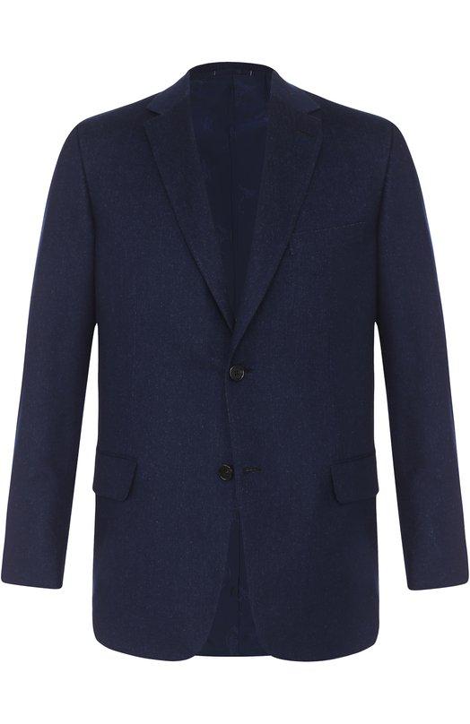 Купить Однобортный пиджак из смеси кашемира и шелка Brioni, RG0D/06325/RAVELL0/2, Италия, Синий, Кашемир: 75%; Шелк: 25%; Подкладка-купра: 100%;
