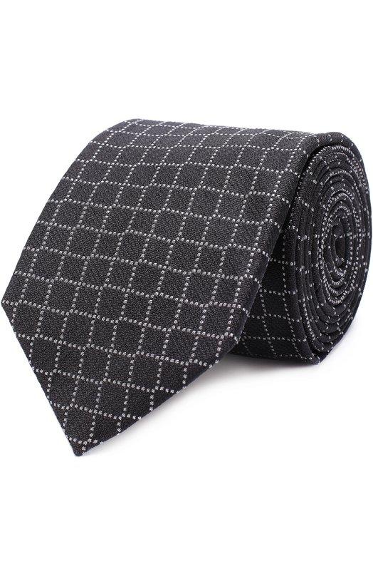 Купить Шелковый галстук с узором Pal Zileri, L300C16/22948, Италия, Черный, Шелк: 90%; Полиакрил: 10%;