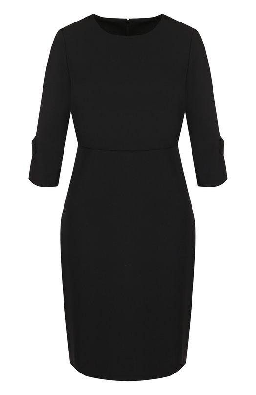 Купить Приталенное мини-платье с укороченным рукавом Tara Jarmon, 17330-R3858, Болгария, Черный, Шерсть: 100%;