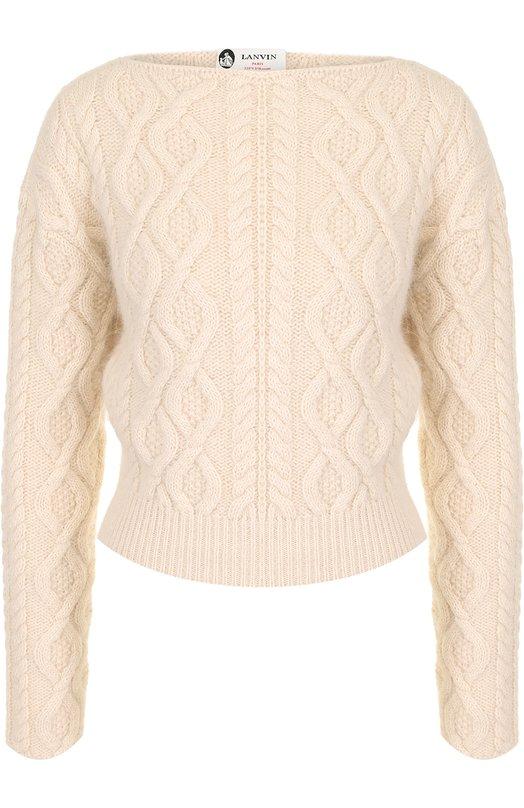 Пуловер фактурной вязки с вырезом-лодочка Lanvin
