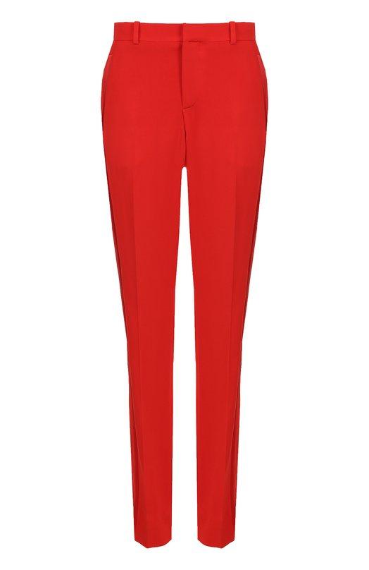 Купить Брюки прямого кроя со стрелками Givenchy, 17I5048194, Италия, Красный, Вискоза: 95%; Эластан: 5%;