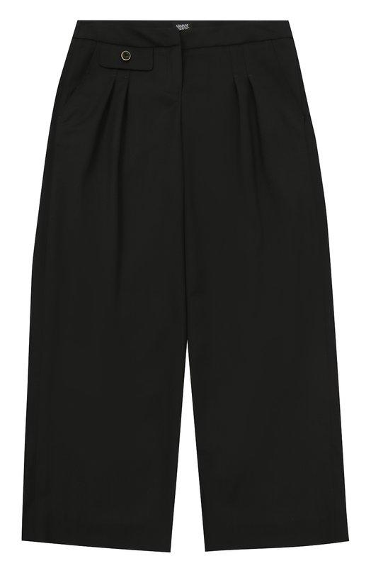 Купить Шерстяные брюки прямого кроя Armani Junior, 6Y3P31/3N1HZ/11A-16A, Италия, Черный, Шерсть: 98%; Подкладка-вискоза: 64%; Подкладка-полиэстер: 36%; Эластан: 2%;