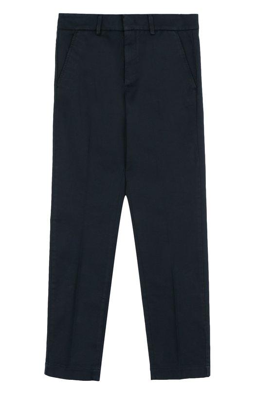 Хлопковые брюки прямого кроя Moncler Enfant