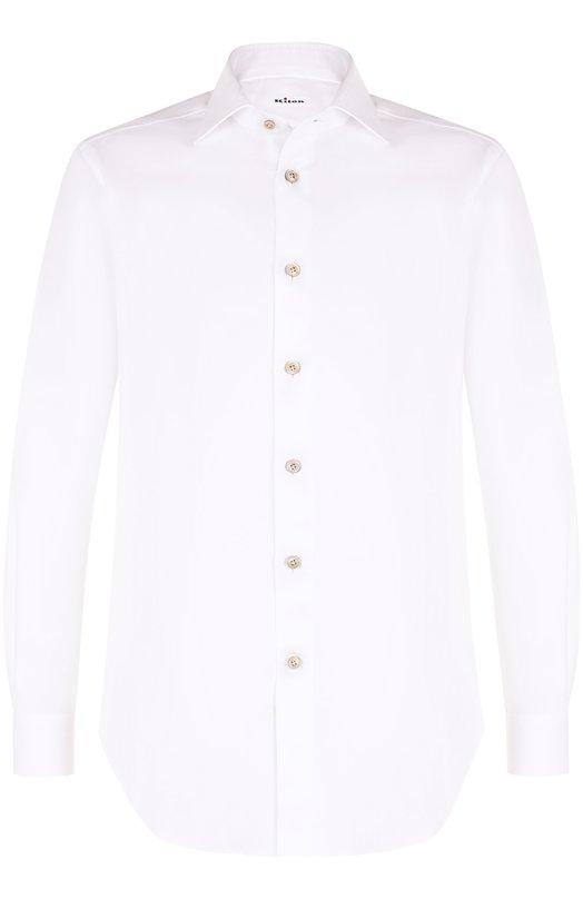 Купить Хлопковая сорочка с воротником акула Kiton, UCIH000380100K, Италия, Белый, Хлопок: 100%;