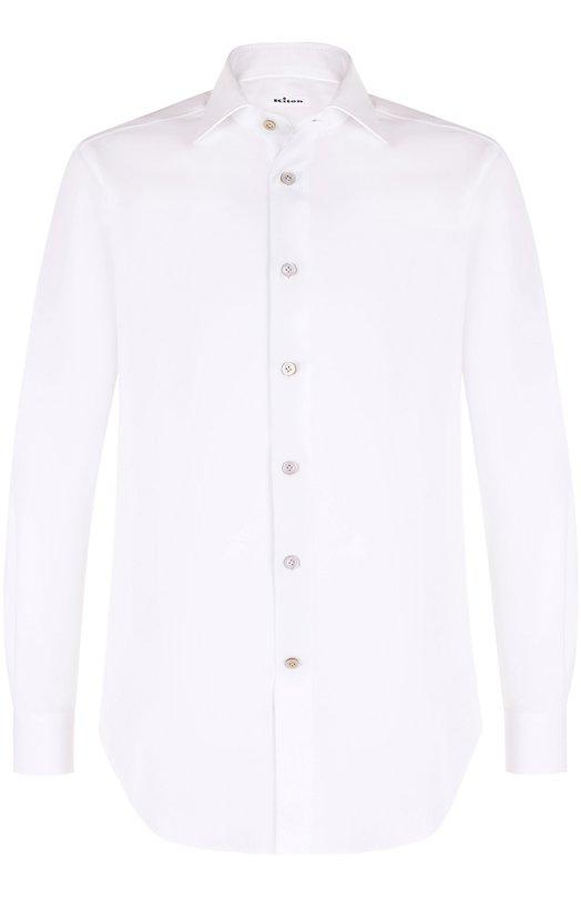 Купить Хлопковая сорочка с воротником акула Kiton, UCIH000380100J, Италия, Белый, Хлопок: 100%;
